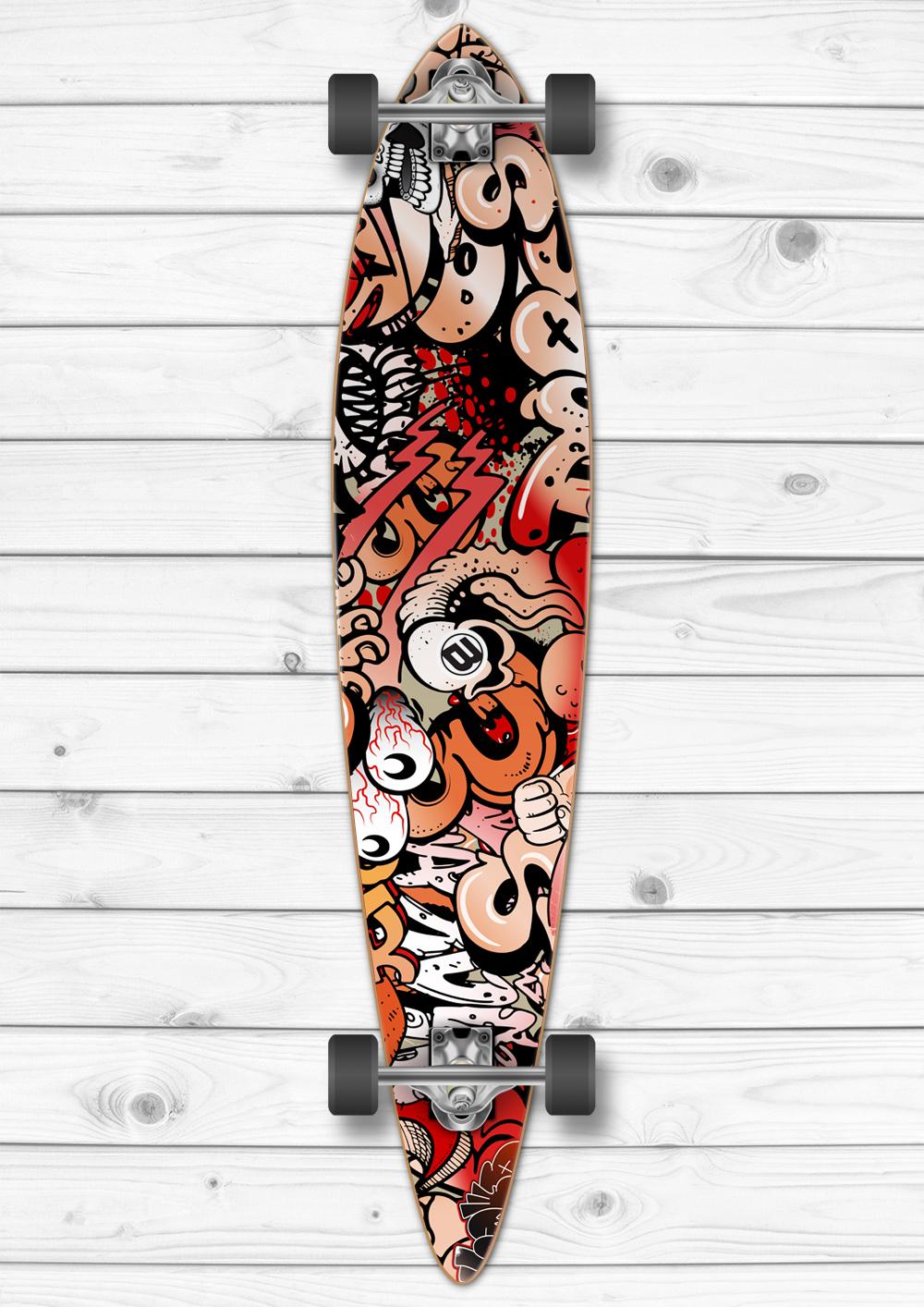 Graffiti Longboard Wrap Boardwraps