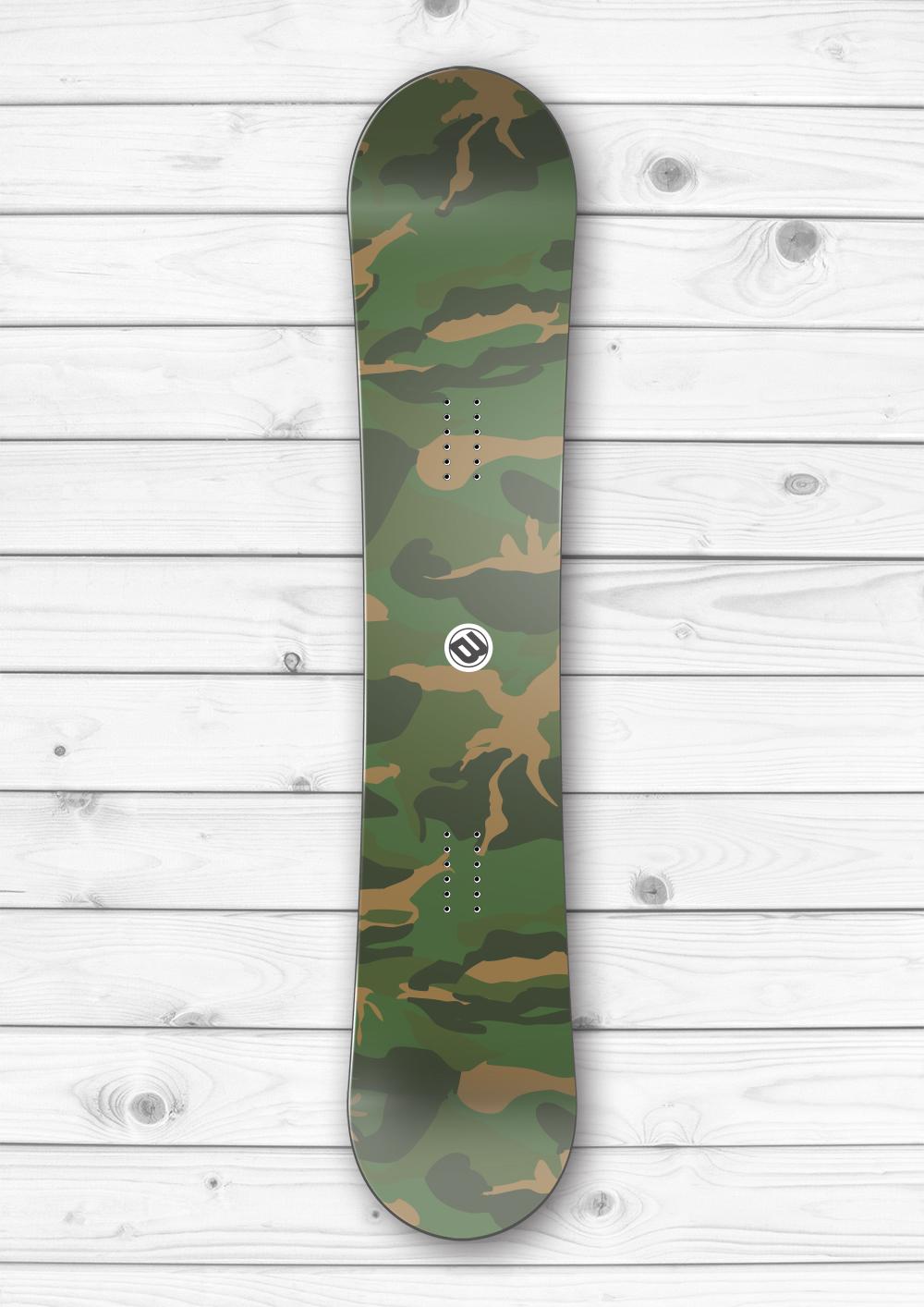 Army Camouflage Snowboard Wrap Boardwraps