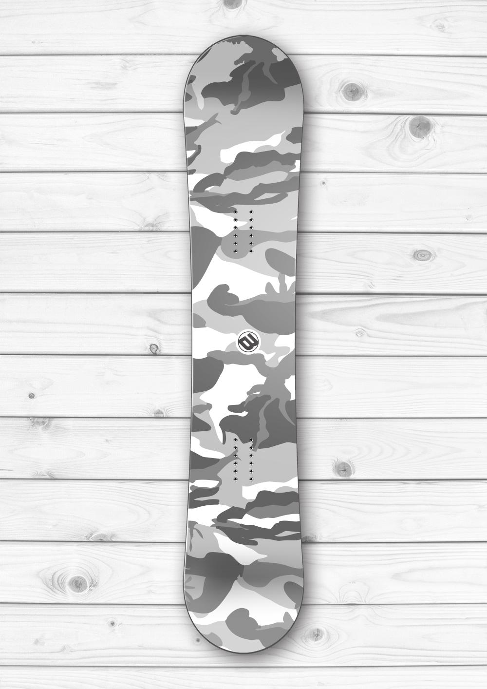 Winter Camouflage Snowboard Wrap Boardwraps